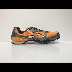 BROOKS Women SURGE MD Sz 9 Orange Track Field Shoe